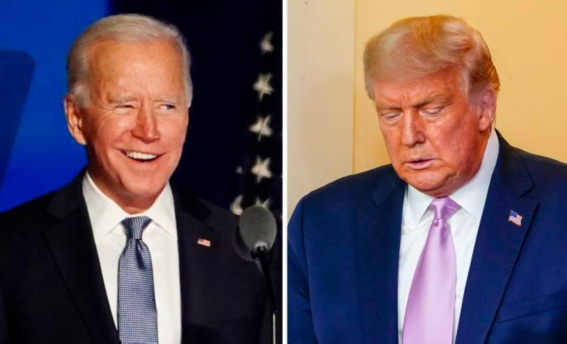 Joe Biden y Donald Trump. EFE JIM LO SCALZO