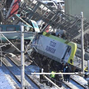 Accidente de tren en Turquía