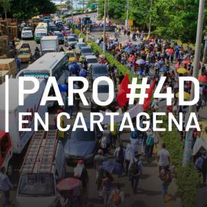 [Video] Así transcurrieron las manifestaciones del #4D en Cartagena
