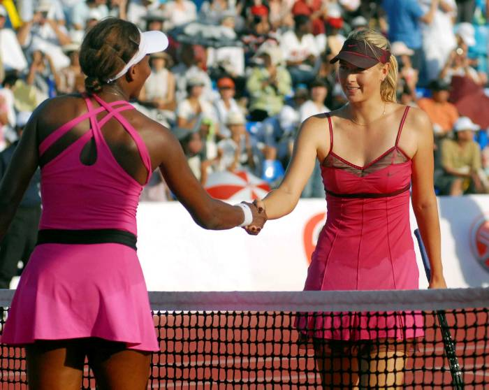 Venus Williams y Maria Sharapova.