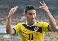 James Rodríguez, volante de Colombia.