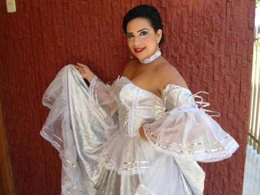 Evelyin Galván Lora, reina del carnaval.
