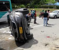 Accidente en la Troncal de Occidente