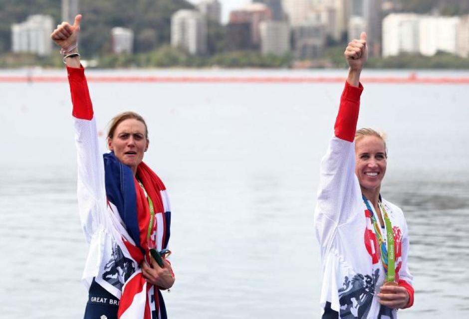 Helen Glover y Heather Stanning